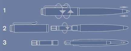 Instrukcja napełniania długopisu